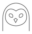 owl thin line icon animal and zoo bird vector image