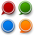 Paper set of round speech bubble vector image vector image