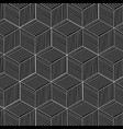 pattern modern hexagon square design image vector image
