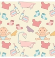 pattern with baby vector image vector image