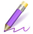 purple pencil vector image vector image