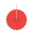 red round fan isolated on background fan vector image vector image
