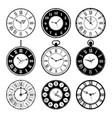 retro clocks old roman vintage round watches vector image