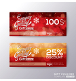Season greeting gift voucher coupon vector image
