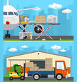 set of air cargo and storage services