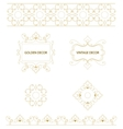 set of art frames and borders vector image vector image