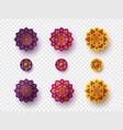 set rangoli for diwali festival vector image