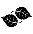 simple leaf icon image vector image vector image
