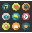 Social media icons set for blogging vector image vector image