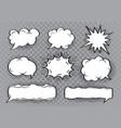 speech bubble cartoon set vector image
