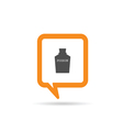 square orange speech bubble with poison icon vector image