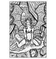 succubus female demon engraved fantasy vector image vector image