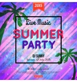 summer party typographical shining template poster vector image vector image