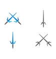 swords logo template icon vector image