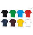 t shirt templates vector image vector image