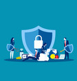 technology security concept business data vector image vector image