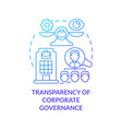transparency of corporate governance blue vector image vector image