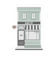 vintage style house facade with bakery shop vector image vector image