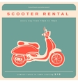 Vintage with a retro scooter vector image vector image