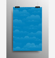 white blue background clouds background weather vector image