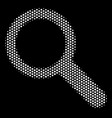 white pixel search icon vector image vector image