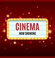 cinema banner movie watching retro background vector image