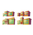 educational institutions buildings cartoon vector image