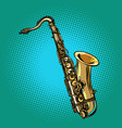 saxophone musical instrument vector image