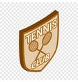 tennis club shield isometric icon vector image