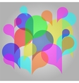 Abstract colorful background with bubbles vector image