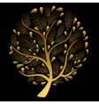 Gold Tree isolated on Black Background vector image