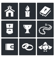 Religion icon collection vector image