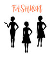 fashion woman silhouette with folded hair vector image