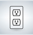 a 110v power outlet isolated on a modern vector image vector image