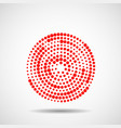 abstract dotted circles vector image vector image