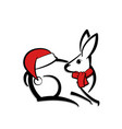 abstract icon of a rabbit vector image vector image