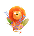 african baby lion in nature for kids and children vector image vector image
