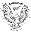 American Spirit Monochrome Emblem vector image vector image