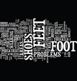 athletes at greater risk for foot problems text vector image vector image