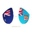 australia v fiji icon for rugby tournament