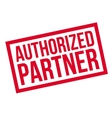 Authorized Partner rubber stamp vector image vector image