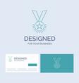 award honor medal rank reputation ribbon business vector image vector image
