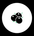 berries fruit simple black and green icon eps10 vector image vector image