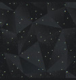black triangle seamless pattern with grunge effect vector image vector image