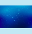 blue abstract background glitter particles vector image vector image