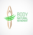 Body care logo template vector image vector image