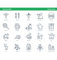 car parts icons - set 05 vector image vector image