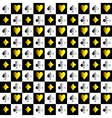 Card Suit Chess Board Gold Silver Background vector image vector image