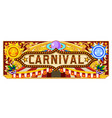 carnival banner for circus ticket vector image vector image