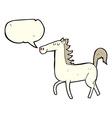 cartoon horse with speech bubble vector image vector image